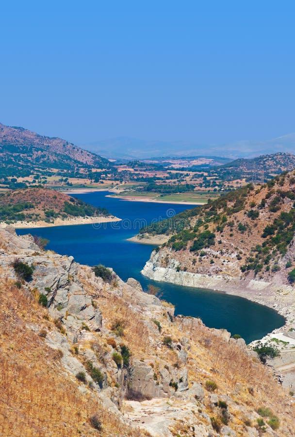 View from Pergamon to the lake - Turkey royalty free stock photos