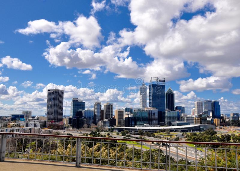 View of Perth City from King's Park Overlook stock photo