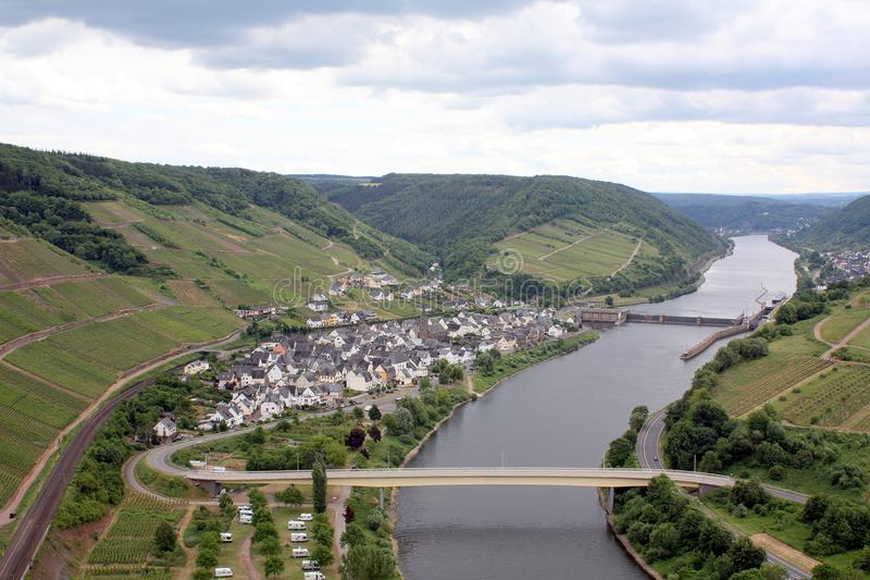 View of the Petersberg. Germany. View near the Moselle of the Peterberg . Germany royalty free stock photography