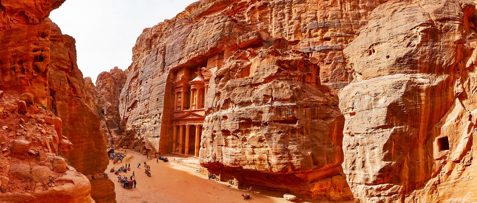 View of Petra royalty free stock images