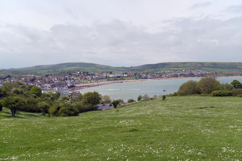 View from Peveril Point, Swanage. Dorset royalty free stock images