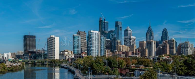 View of Philadelphia downtown. Panoramic view of Philadelphia downtown stock image