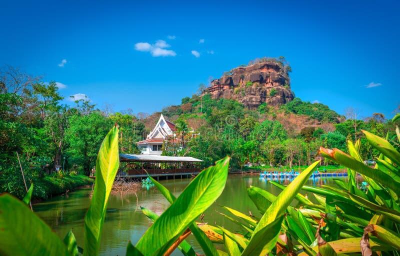 View of Phutok noi on the top of phutok mountain,Buengkan,Thailand.  royalty free stock photography