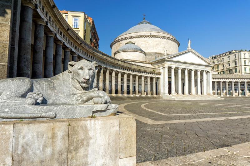 Piazza del Plebiscito in Naples royalty free stock images