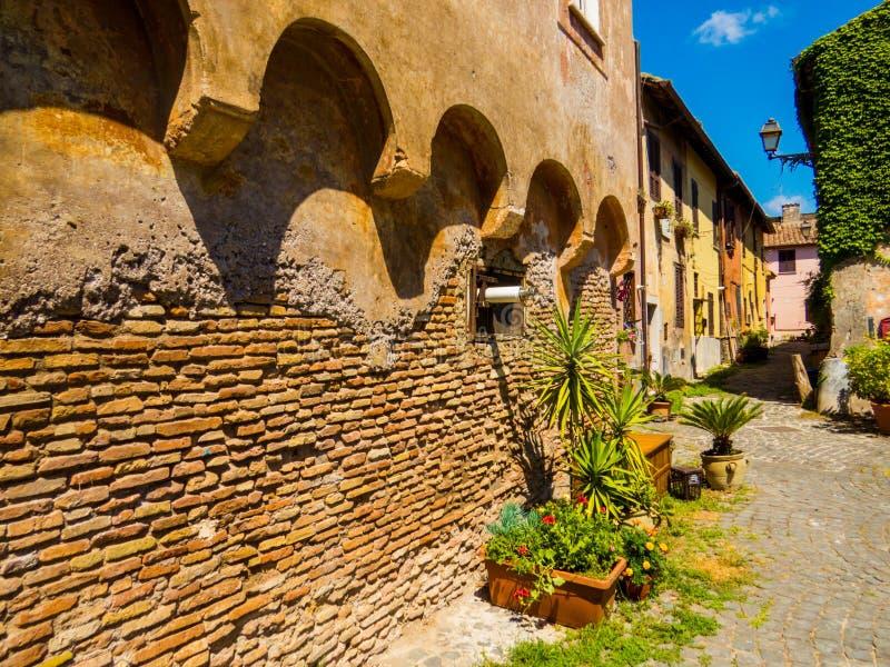 Piazza della Rocca, Castle of Julius II, Ostia Antica, Rome, Italy royalty free stock images