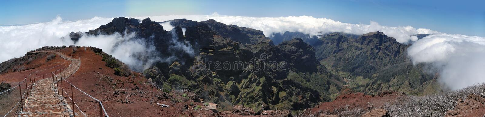 View From Pico Ruivo Royalty Free Stock Photos