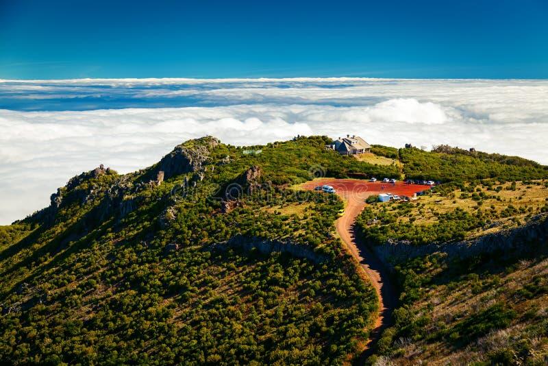 View from Pico Ruivo trekking path royalty free stock photo