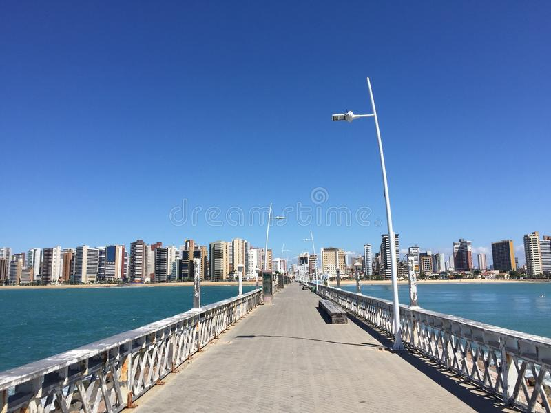 View from the pier royalty free stock photos
