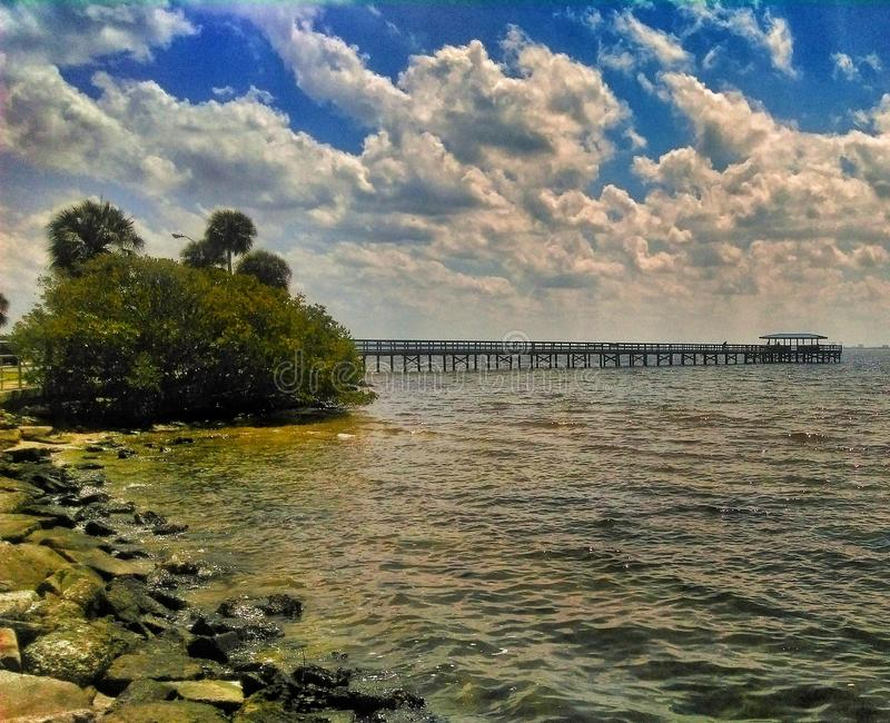 View of Pier At Safety Harbor Marina stock photography