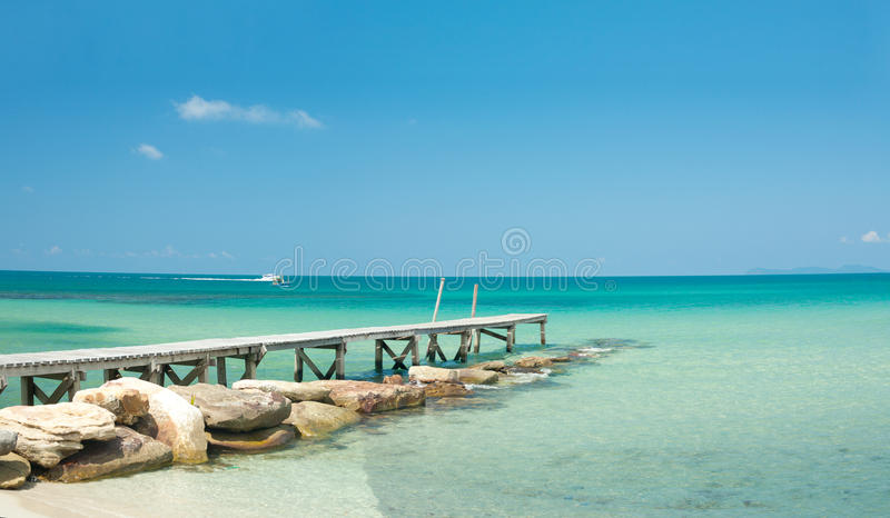 Download View From The Pier On The Sea At Loneliness Beach Royalty Free Stock Photo - Image: 13721695