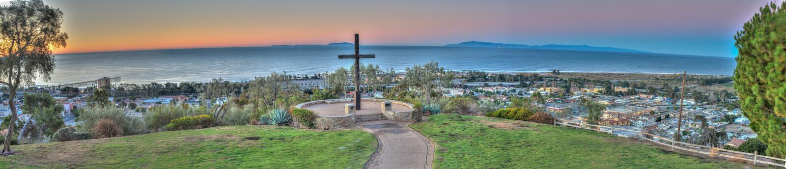 View from pier to Ventura Avenue. royalty free stock image