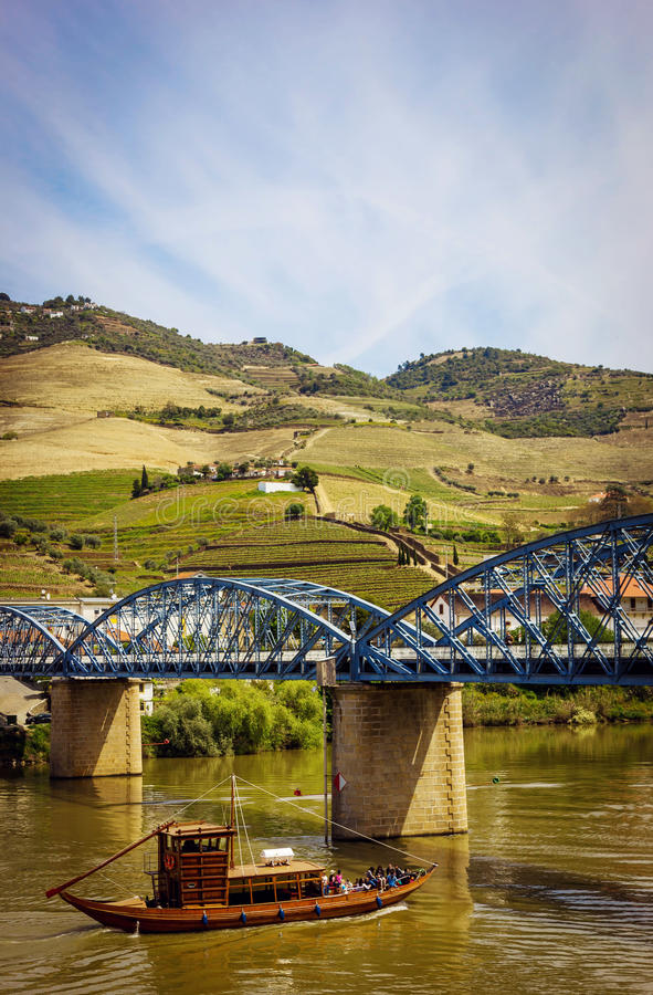 Download View From Pinhao Village In Portugal To Douro Valley Stock Image - Image of hill, douro: 83723659