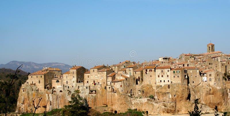 View of Pitigliano, Tuscany, Italy royalty free stock image