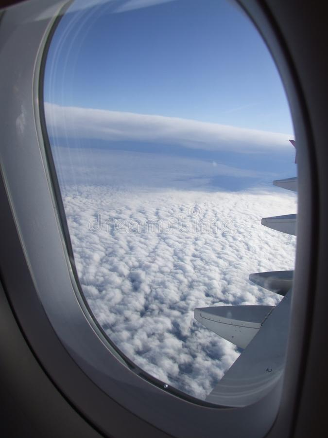 View from the plane royalty free stock images