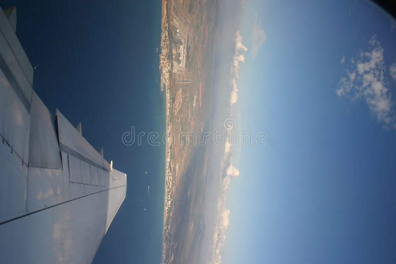 View from a Plane royalty free stock photo