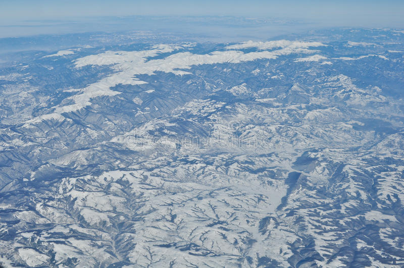 View from a plane stock photography