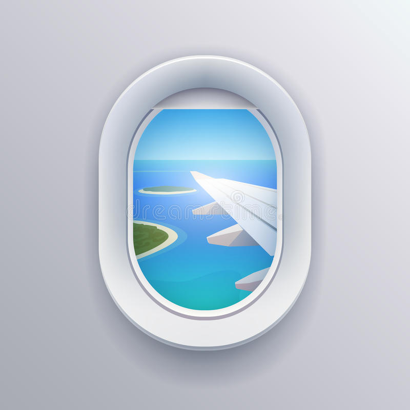 View from plane. vector illustration