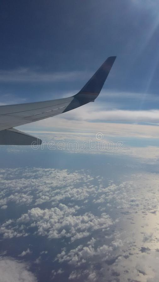 The view of the plane royalty free stock images