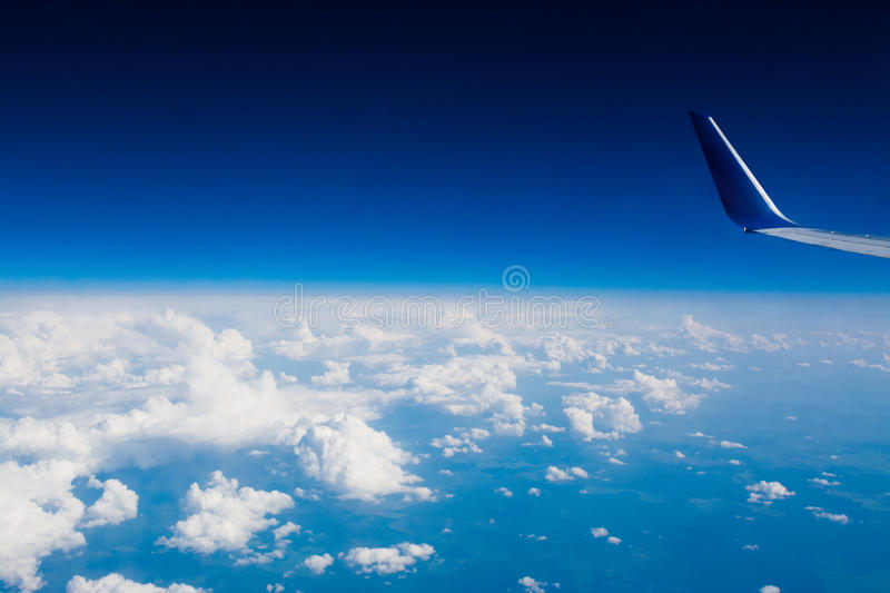 View from a plane window royalty free stock photos
