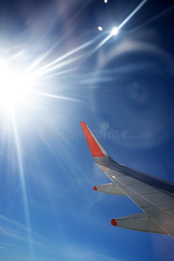 View from Plane stock photography