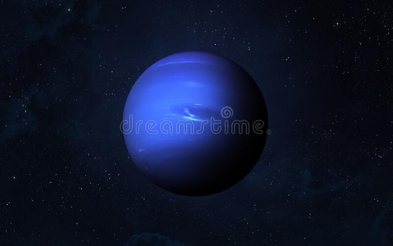 Planet Neptune. View of planet Neptune from space. Space, nebula and planet Neptune. This image elements furnished by NASA royalty free stock images