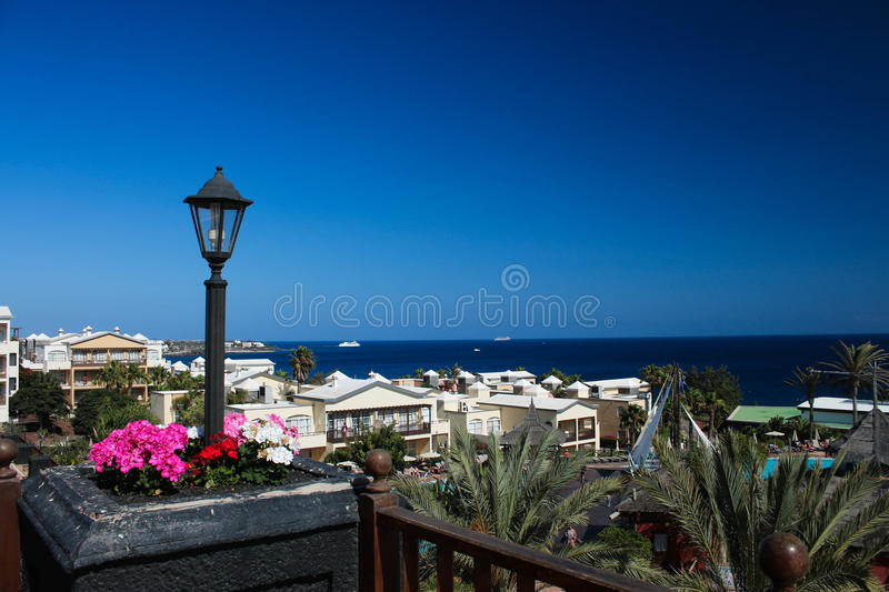 View in Playa Blanca Lanzerotte stock photography