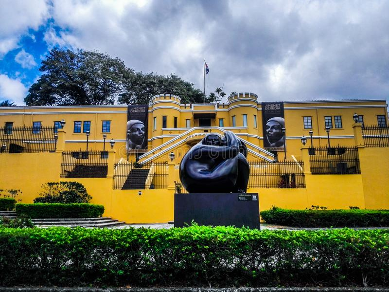 View of the Plaza de la Democracia from the National Museum in San José of Costa Rica. royalty free stock photography