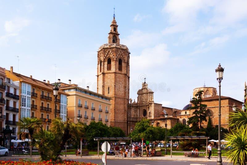 View Of Plaza De La Reina In Valencia, Spain Editorial Photo