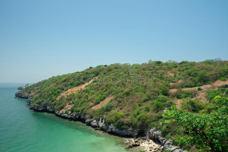 View point accommodation on Koh Sichang, a small, quiet and popular island in the eastern part of Thailand.  stock images