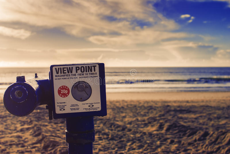 View Point at the beach. royalty free stock image