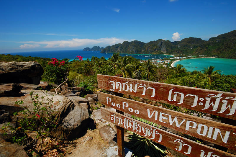 View Point Of Koh Phi Phi Don Stock Photography