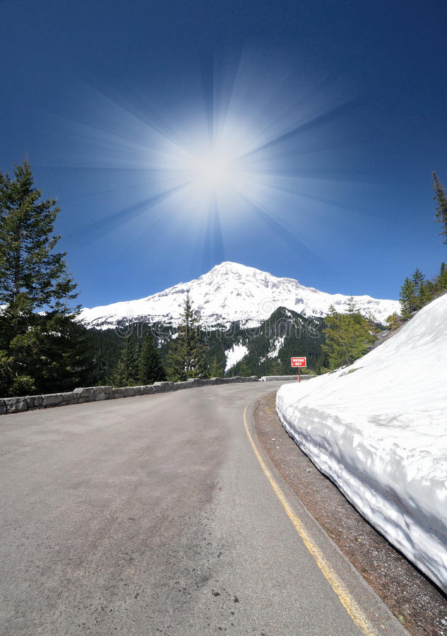 Download A View Point Of Of Mt Rainer Royalty Free Stock Photos - Image: 23473788