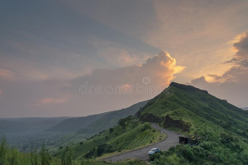View point, Sajangad, Satara, India. View point of Sajangad in Satara District, India stock image