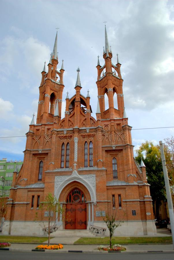 View of the Polish Church in the city of Samara, built in 1906. View of the Polish Church in the city of Samara, built in 1906 by the architect F. Bogdanovich royalty free stock photography