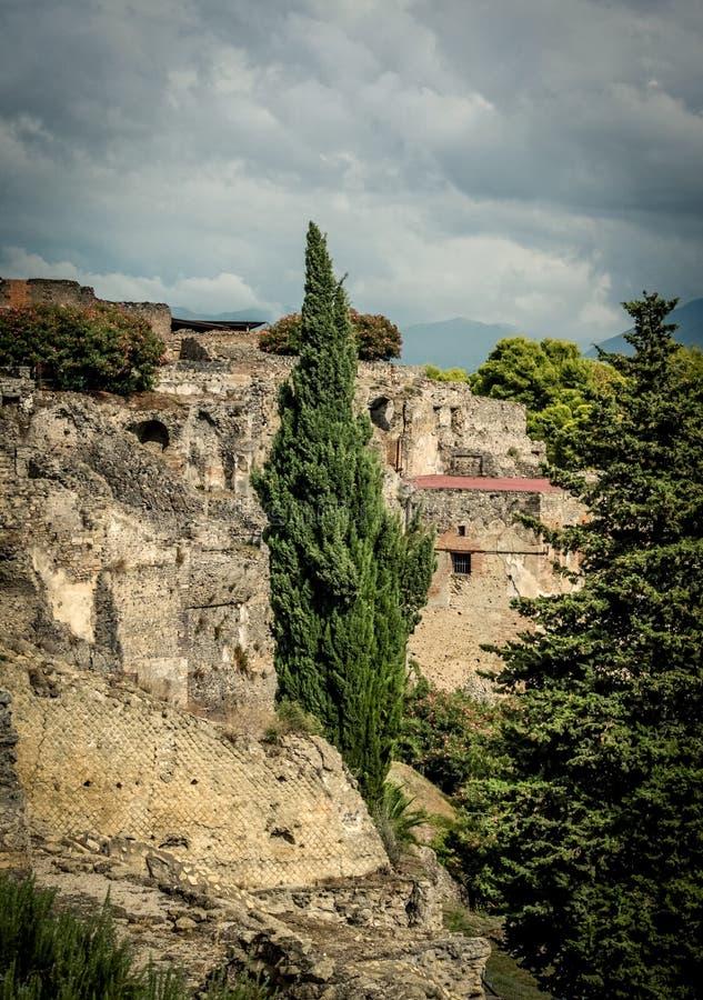 View of Pompeii stock image