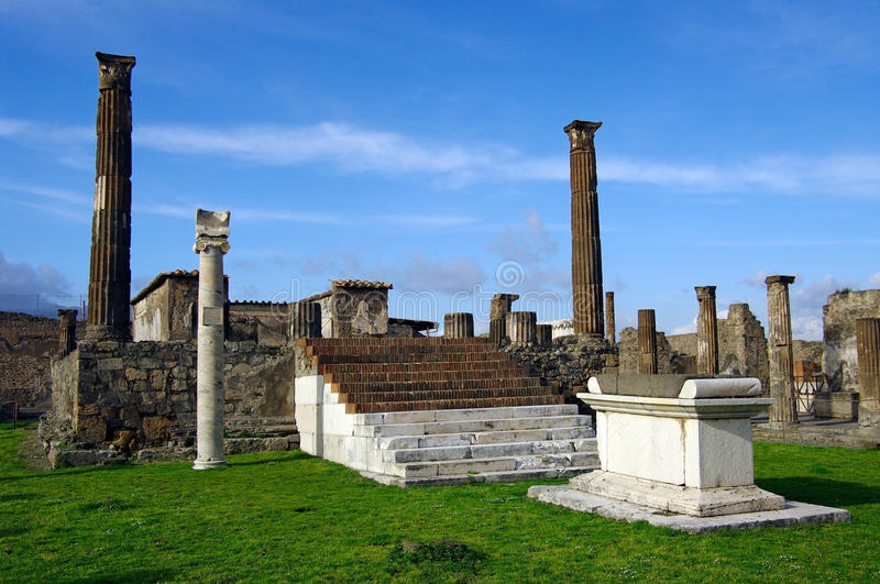 View of Pompeii ruins. Italy. royalty free stock photography