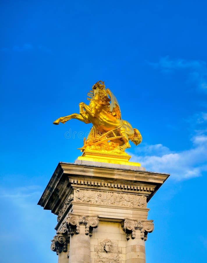 Pont Alexandre III bridge in Paris, France stock photo
