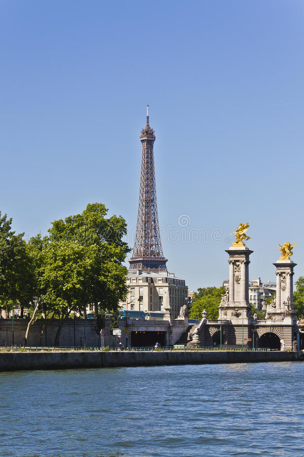 Download View On Pont Alexandre III And Eiffel Tower Stock Photo - Image: 26087576