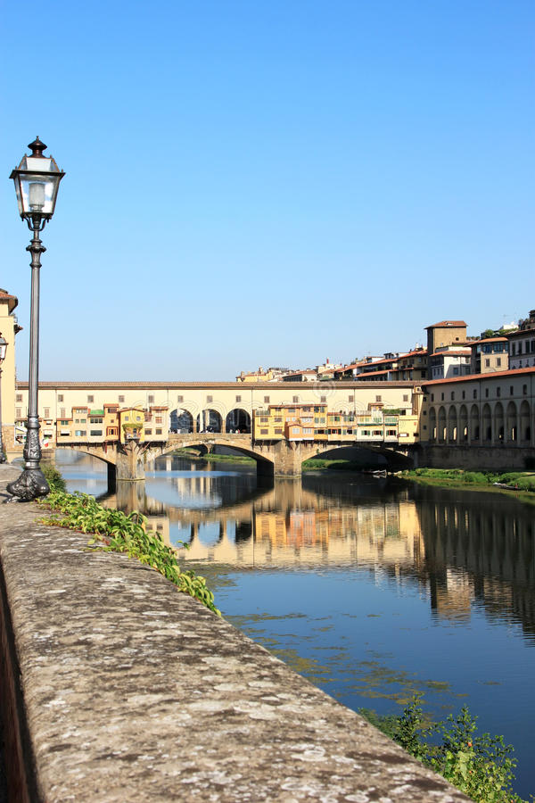 View At The Ponte Vecchio In Florence, Italy Royalty Free Stock Photos