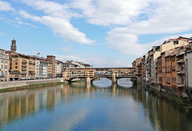 Ponte Vecchio. View of Ponte Vecchio with river Arno, Florence, Italy royalty free stock photo