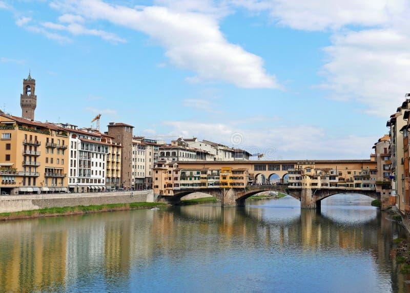 Ponte Vecchio. View of Ponte Vecchio with river Arno, Florence, Italy royalty free stock image
