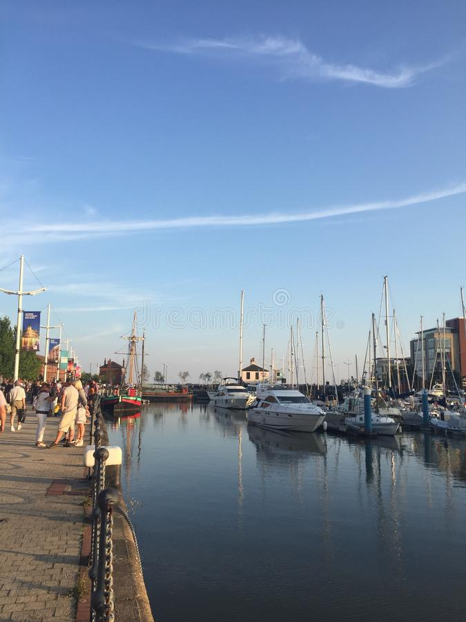 Hull city Marina in 2018 stock images