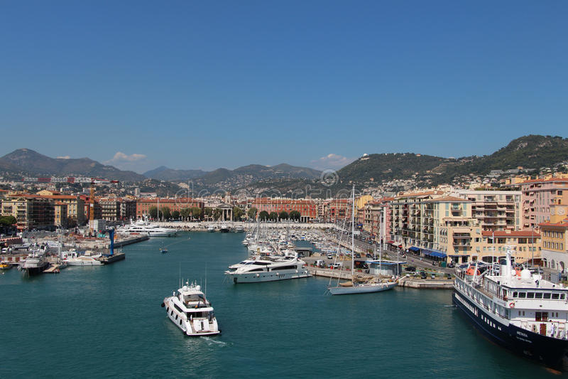 View of the Port De Nice. royalty free stock photo