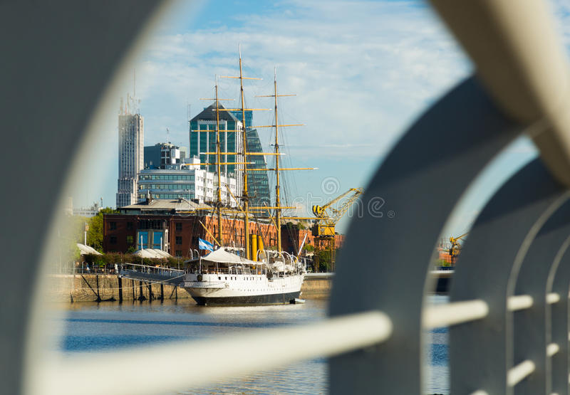 View of port and district Puerto Madero, Buenos Aires stock photos