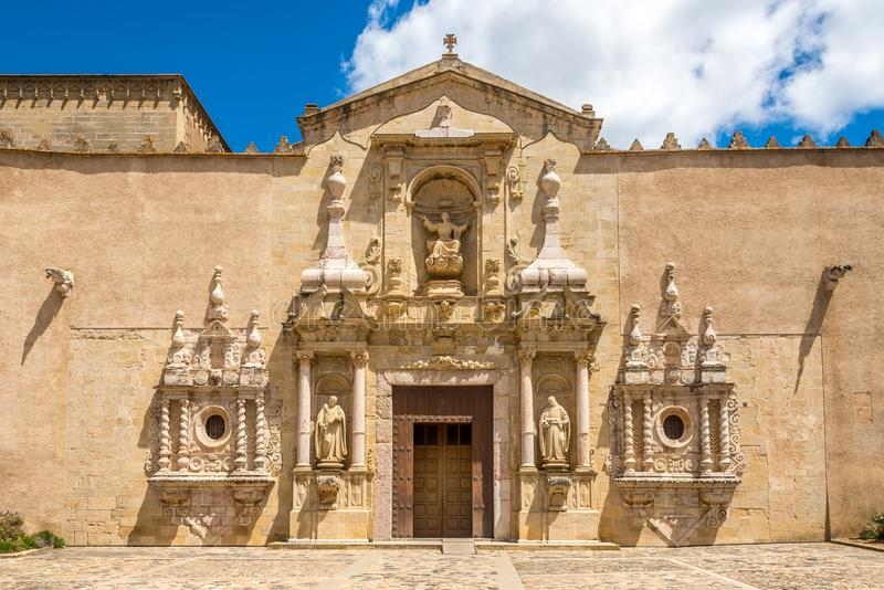 View at the Portal of Church of Santa Maria de Poblet in Spain royalty free stock photo