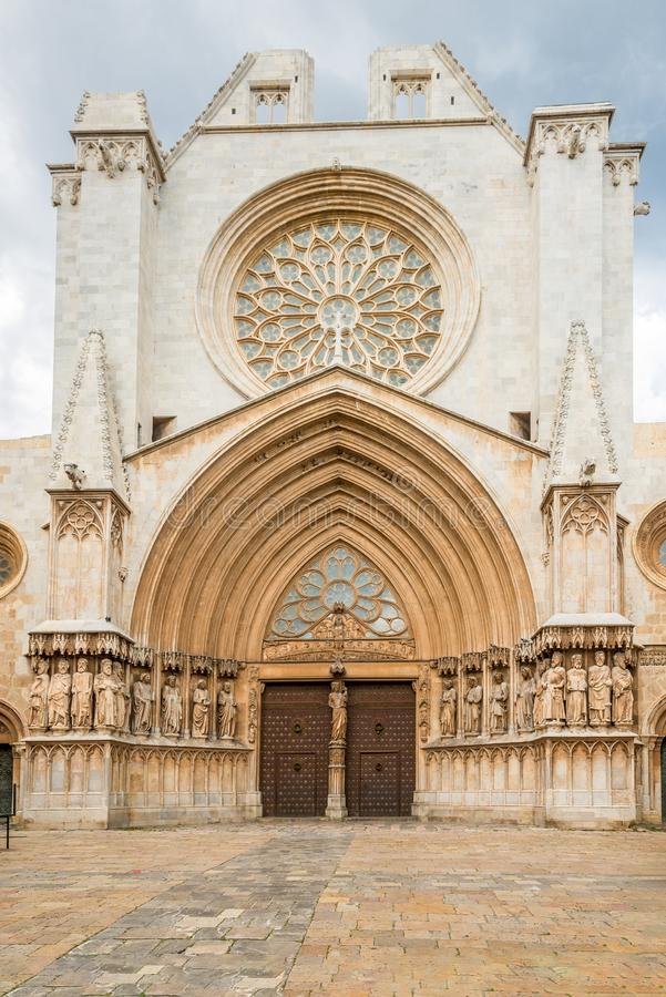View at the Portal of Tarragona Cathedral in Spain royalty free stock photography
