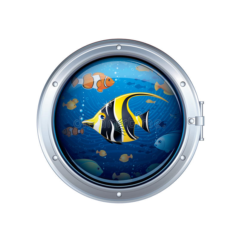 Download View from the Porthole stock vector. Illustration of diving - 27520550