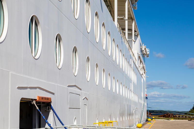 View of Portholes Down Side of Ship royalty free stock images