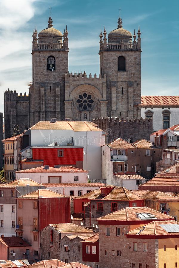 View on Porto Cathedral. stock images