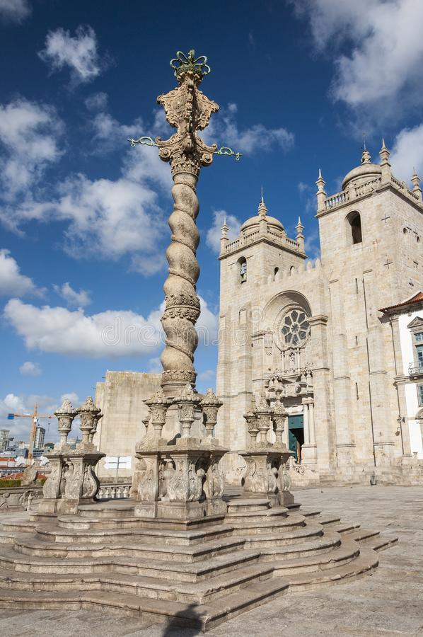 View of the Porto Cathedral Se do Porto in the city of Porto royalty free stock image